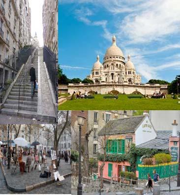 Paris, Montmartre: Ressamlar tepesi Sacré-Coeur Bazilikası, Beyaz Kilise